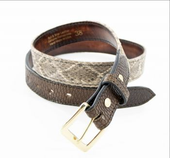 Diamondback and Beaver Tail Belt by Bull and Briar