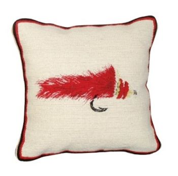 Diver Fly Petit Point Needlepoint Pillow by Michaelian Home