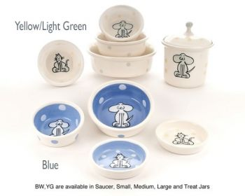 Dog and Catware design dog and cat bowls from petware Pottery