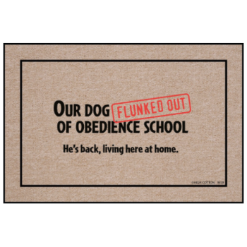 Dog Obedience School Doormat from High Cotton