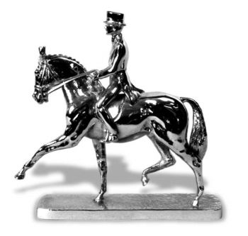 Dressage Horse Hood Ornament or Car Mascot by Louis Lejeune comes in chrome, bronze, enamel or gold plated