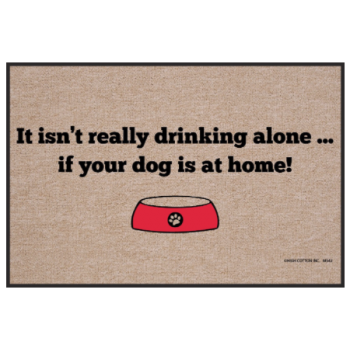 Drinking Alone Doormat from High Cotton