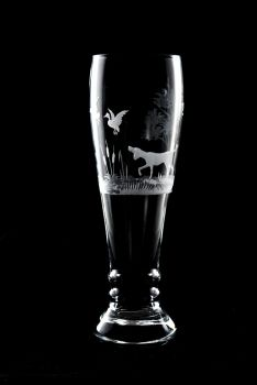 Pilsner Hunting Dog Crystal Glass