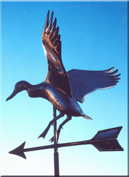 Duck Copper Weathervane by Barry Norling
