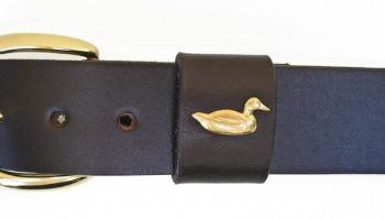"1 1/4"" wide Duck Decoy Leather Belt from Royden Leather Belts"