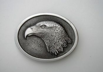 Eagle Head Pewter Buckle by Sid Bell Originals