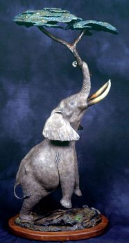 Elephant Lamp is a limited edition bronze sculpure and lamp by Christopher Smith