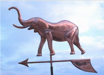 Elephant Copper Weathervane by Barry Norling