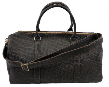 Elephant Hide Duffel Bag - Black - Front