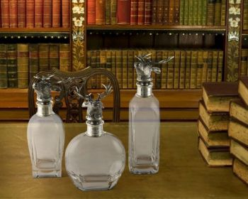 Elk Liquor decanters by Vagabond House