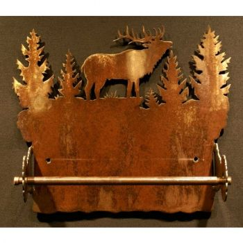 Elk rustic metal paper towel holder by Steel Appeal