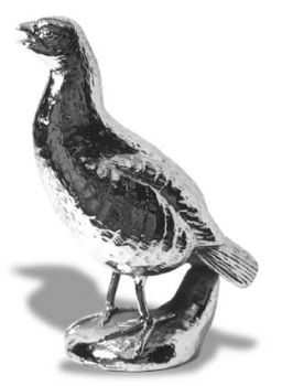 English Partridge Hood Ornament or Car Mascot by Louis Lejeune comes in chrome, bronze, enamel or gold plated