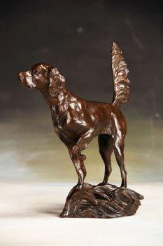 Staunch - English Pointer Bronze Sculpture by Liz Lewis