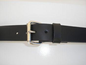 """1 1/4"""" Black Field Belt by Royden Leather Belts"""