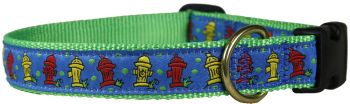Fire Hydrant One inch dog collar by Belted Cow