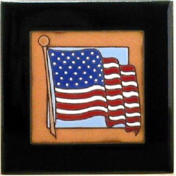 American Flag Ceramic Tile - Maanum Custom Tiles