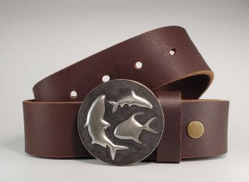 Flats Slam Hand Embossed Buckle and Belt by Tyger Forge