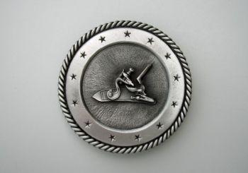 Flintlock Pewter Buckle by Sid Bell Originals