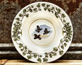 Flushing Quail Plantation China Bowl by WM Lamb and Son