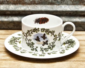 Flushing Quail Cup and Saucer Plantation China by WM Lamb and Son