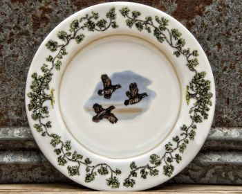 Flushing Quail Salad Plate Plantation China by WM Lamb and Son