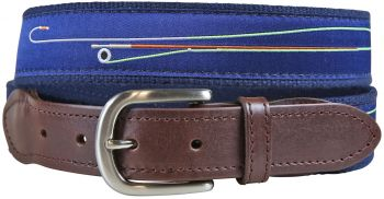 Fly Rod Leather Tab Belt by Belted Cow