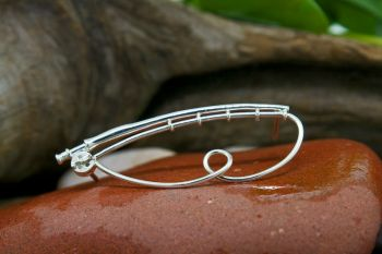 Fly Rod Brooch Lapel with Loop by Tight Lines Jewelry