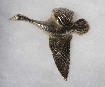 Flying Goose Sterling Silver Pin or Pendant by Dick Cook