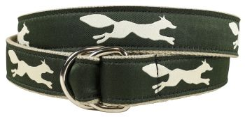 Ivory Fox D Ring Belt by Belted Cow
