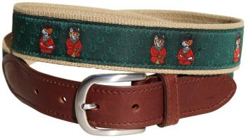 Fox and Hound Leather Tab Belt by Belted Cow