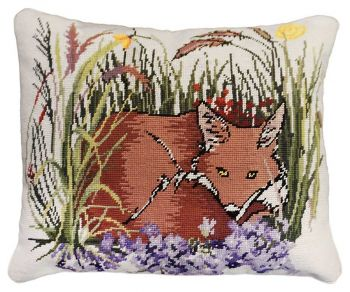 Loon Needlepoint Pillow by Michaelian Home