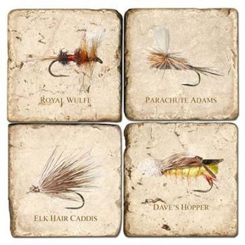 Freshwater Flies Italian Marble Coasters and Giftware