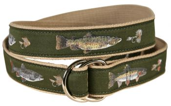 Freshwater Fish D Ring Belt by Belted Cow