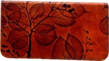 Checkbook cover by Leaf Leather