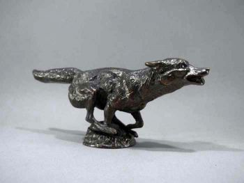 Fox Galloping - Large - Hood Ornament or Car Mascot by Louis Lejeune comes in chrome, bronze, enamel or gold plated