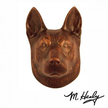 German Shepherd Door Knocker by Michael Healy