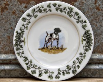 German Shorthair Salad Plate Plantation China by WM Lamb and Son