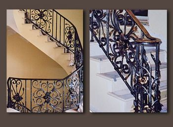 Gilded Rose Ironwork Railing by John Boyd Smith