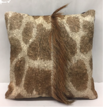 Giraffe Hide Pillow with Mane - Front