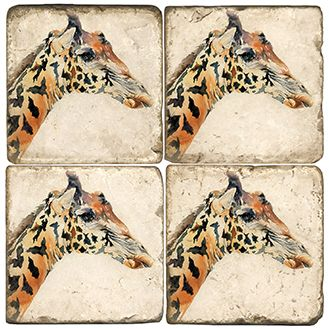 Giraffes Italian Marble Coasters and Giftware