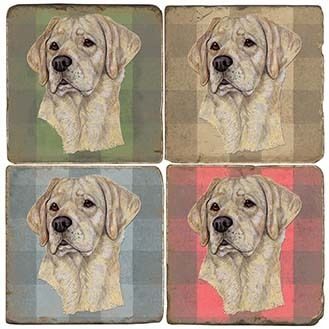 Classic Dogs paintings Italian Marble Coasters and Accessories