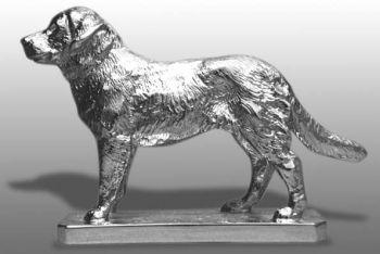 Golden Retriever Chrome Hood Ornament by Louis Lejeune