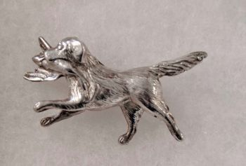 Golden Retriever Sterling Silver Pin by Dick Cook