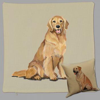 Golden Retriever Throw Pillow Zeppa Studios