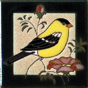 Goldfinch Ceramic Tile - 4 x 4 by Maanum