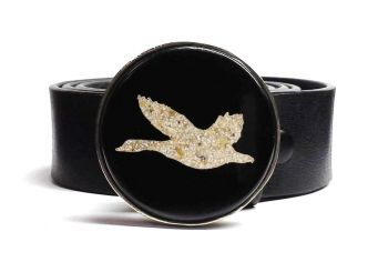 Flying Goose Eggshell All Cast Buckle by Tyger Forger