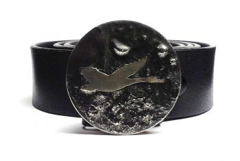 Flying Goose Hand Cut Buckle by Tyger Forge