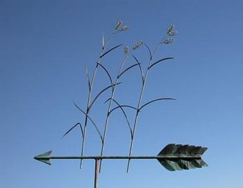 Grass Hand-Hammered Copper Weathervane by Barry Norling