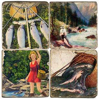 Great Catch Italian Marble Coasters and Giftware