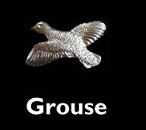 Grouse Sterling Liver Cufflinks by Louis Lejeune